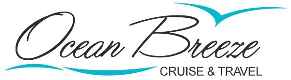 ocean breeze cruise and travel agency logo